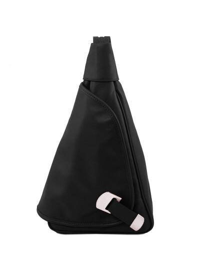 Rucsacel dama din piele naturala Tuscany Leather, negru, HanoiS