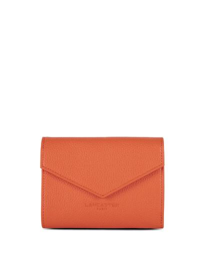 Portofel piele naturala portocalie Lancaster Foulonne PM 170-29-1