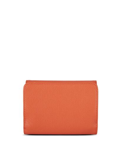 Portofel piele naturala portocalie Lancaster Foulonne PM 170-29-2