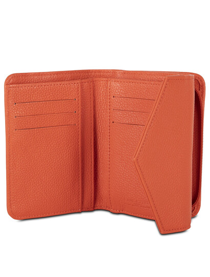 Portofel piele naturala portocalie Lancaster Foulonne PM 170-29-3