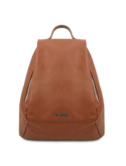 Rucsac dama piele naturala coniac Tuscany Leather, TL Bag Soft