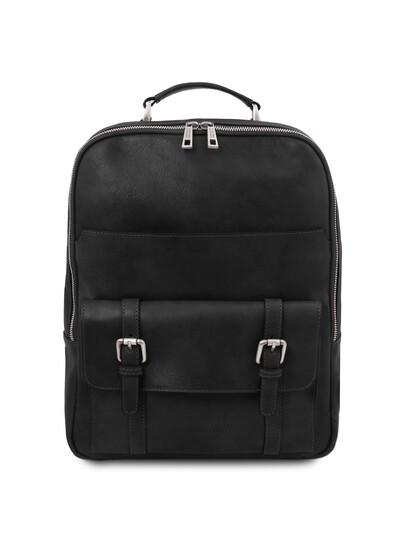 Rucsac laptop piele naturala neagra Tuscany Leather, Nagoya