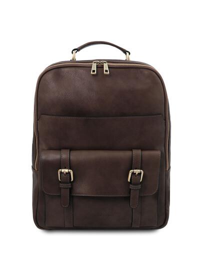 Rucsac laptop piele naturala maro inchis Tuscany Leather, Nagoya