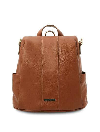 Rucsac dama piele naturala coniac Tuscany Leather