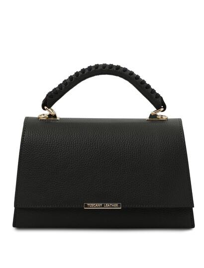 Geanta dama piele naturala neagra Tuscany Leather, TL Bag