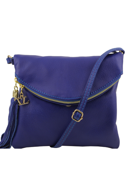 Genti dama   TL Young bag - Geanta umar cu ciucure coniac - Tuscany Leather