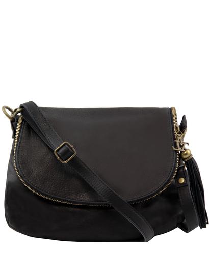 Genti dama | TL Bag - Geanta piele moale neagra - Tuscany Leather