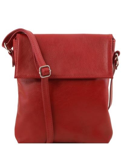Geanta de umar barbati Tuscany Leather din piele naturala rosie Morgan