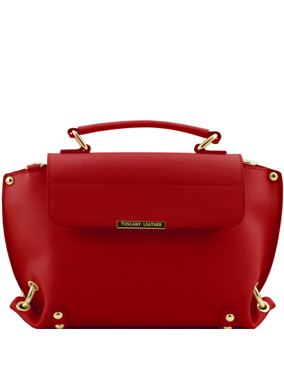 Genti dama | TL Bag - Geanta din piele cu curea detasabila rosie - Tuscany Leather