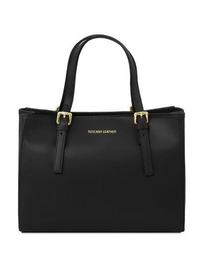 Genti dama | Geanta piele naturala neagra Aura Venus - Tuscany Leather