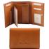 Portofel dama Tuscany Leather din piele naturala honey