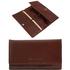 Portofel dama Tuscany Leather tip acordeon din piele naturala maro