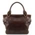 Geanta de umar dama din piele naturala Tuscany Leather, maro inchis, Ilenia