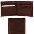 Portofel barbati din piele naturala Tuscany Leather cu buzunar monede, maro