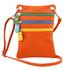 Geanta de umar Tuscany Leather din piele portocalie Minicross