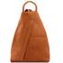 Rucsacel dama din piele naturala Tuscany Leather, coniac, Shanghai