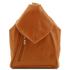 Rucsac dama din piele naturala Tuscany Leather, coniac, Delhi