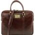 Geanta laptop dama din piele naturala Tuscany Leather, maro, Prato