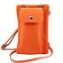 Geanta telefon Tuscany Leather din piele naturala portocalie mini cross