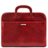 Mapa documente din piele naturala rosie Tuscany Leather, Sorrento