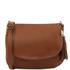 Geanta piele naturala dama Tuscany Leather, cafenie, TL Bag