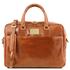 Geanta laptop din piele honey, cu 2 compartimente, Tuscany Leather, Urbino