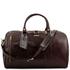 Geanta voiaj din piele naturala maro inchis, marime mare, Tuscany Leather, Voyager