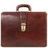 Servieta doctor din piele naturala maro, Tuscany Leather, Canova