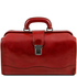 Geanta doctor din piele naturala rosie Tuscany Leather, Raffaello