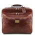 Geanta de voiaj troler din piele naturala maro, Tuscany Leather, Varsavia