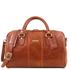 Geanta voiaj din piele naturala honey, marime mica,Tuscany Leather, Lisbona