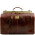 Geanta de voiaj din piele maro, marime mare, Tuscany Leather, Madrid