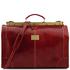 Geanta de voiaj din piele rosie, marime mare, Tuscany Leather, Madrid