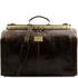 Geanta de voiaj din piele maro inchis, marime mare, Tuscany Leather, Madrid