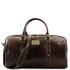 Geanta mica de voiaj din piele maro inchis, Tuscany Leather, Francoforte