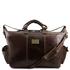 Geanta de voiaj din piele naturala maro inchis, Tuscany Leather, Porto