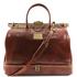 Geanta voiaj din piele naturala maro, Tuscany Leather, Barcellona