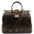 Geanta voiaj din piele naturala maro inchis, Tuscany Leather, Barcellona