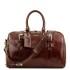 Geanta voiaj din piele maro, cu catarame, marime mica, Tuscany Leather, Voyager