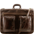 Geanta pentru costum, piele maro inchis, Tuscany Leather, Tahiti Garment