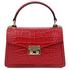 Geanta dama, piele naturala rosie, marime mica, Tuscany Leather, TL Bag Croc