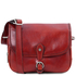 Geanta dama din piele naturala rosie, Tuscany Leather, Alessia