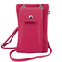 Geanta  Tuscany Leather din piele fucsia telefon mini cross