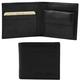 Portofel barbati din piele naturala Tuscany Leather cu buzunar monede, negru