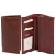 Portofel vertical Tuscany Leather cu doua pliuri maro
