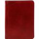 Mapa documente Tuscany Leather din piele naturala rosie Lucio