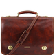 Geanta messenger barbati din piele naturala Tuscany Leather, maro, Siena