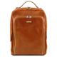 Rucsac laptop Tuscany Leather, Bangkok, din piele naturala, honey