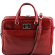 Genti dama   Urbino - Servieta laptop din piele cu buzunar frontal rosie - Karine