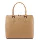 Geanta business dama din piele naturala sampanie, Tuscany Leather, Magnolia